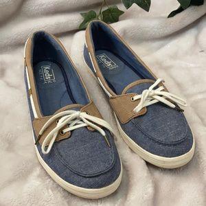 Keds Blue Tan Preppy Loafers Ortholite